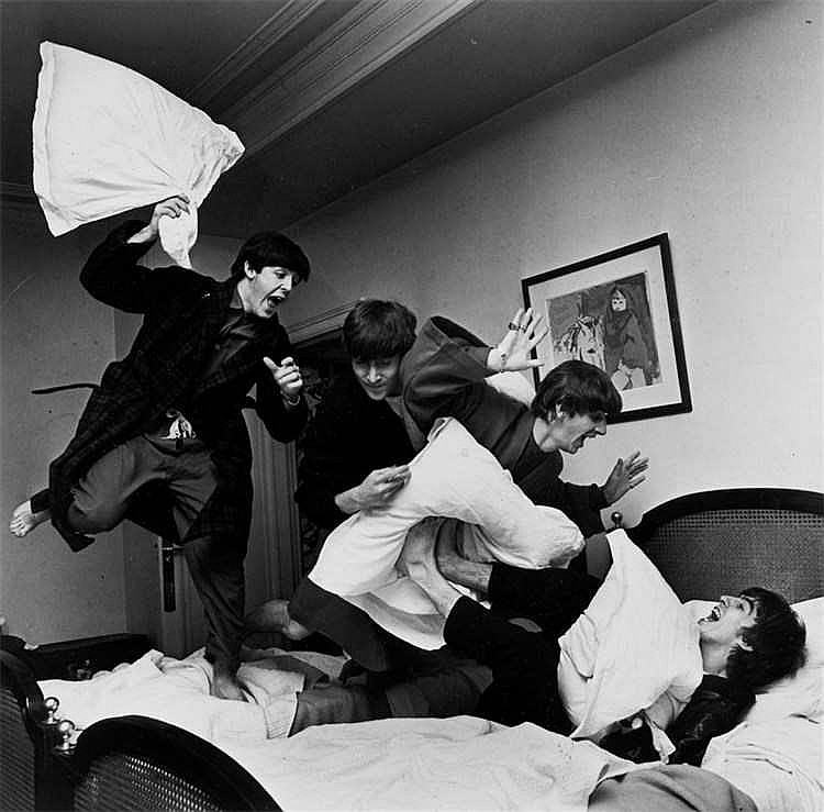 Harry Benson - The Beatles Pillow Fight I, George V Hotel, Paris