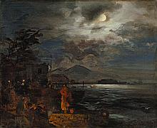 Italienische Küste bei Nacht