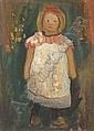Paula Modersohn-Becker Dresden 1876-1907 Worpswede KLEINES MaDCHEN MIT SCHuRZE. Um 1901
