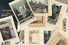 """34 sketches for the book """"Märchen-Strauß für Kind und Haus"""""""