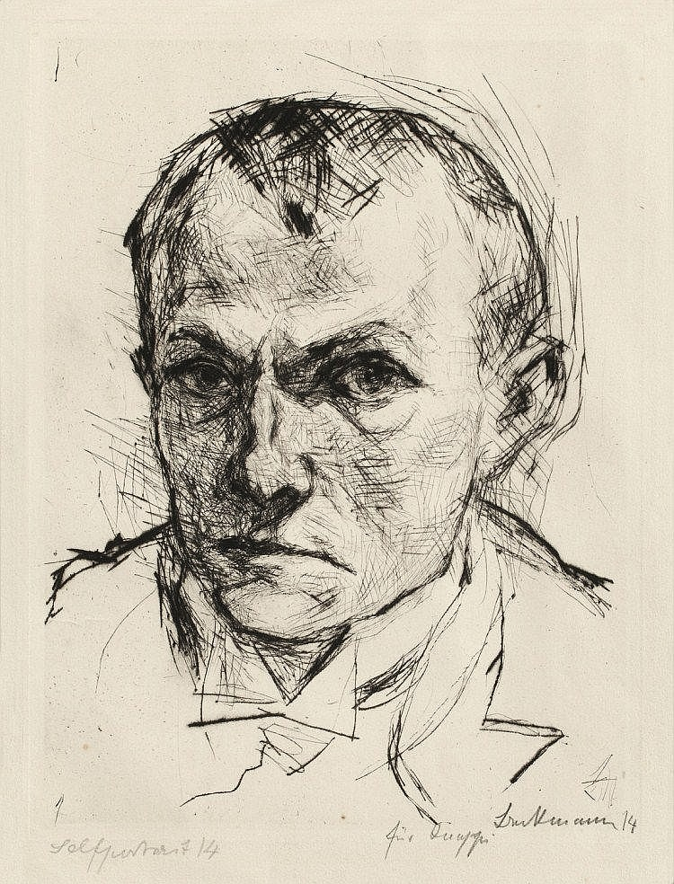 "Beckmann, Max 1884 - 1950 ""Selbstbildnis"