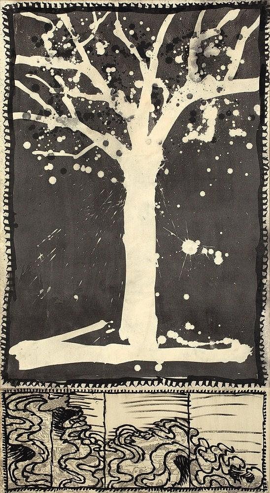 """Alechinsky, Pierre 1927 """"Déplacement du Sédentaire"""