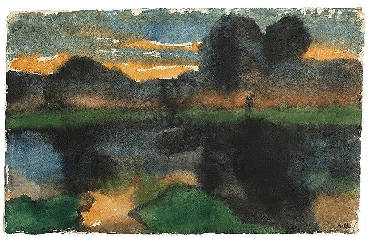 Nolde, Emil 1867 - 1956 Marschlandschaft