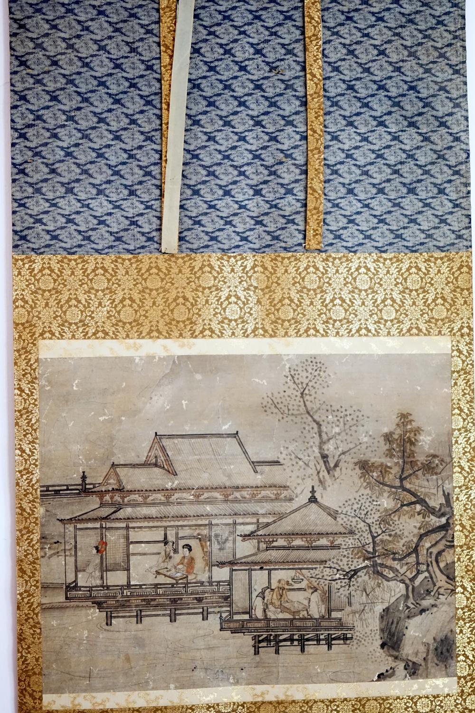 Japanese scroll, Edo period, manchukuo / ryokan scene size 50 * 120