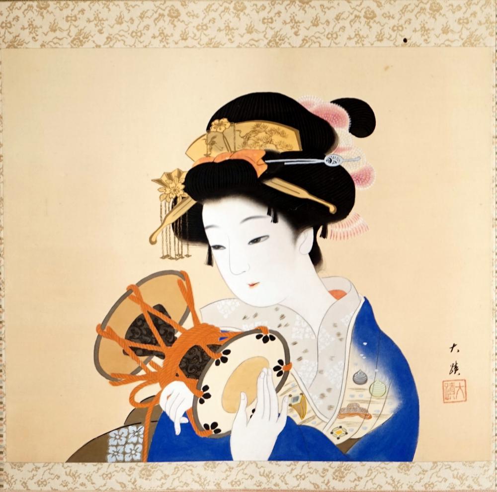 Japanese scroll, Meiji period size 60 * 150 cm