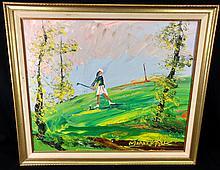 Morris Katz, (American,New York, 1931-2010). Original oil painting.