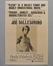 "Andy Warhol's ""FLESH"" 1 sheet poster"
