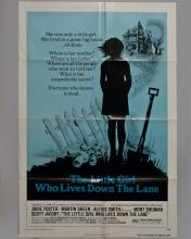 """The Little Girl Who Lives Down The Lane"""" 1 sheet poster"""