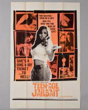 """""""Teenage Jailbait"""" 1 sheet poster,"""