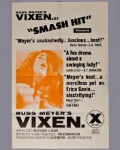 """Russ Meyer """"VIXEN"""" 1 sheet poster"""