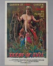 """""""Seeds of Evil"""" 1 sheet poster,"""