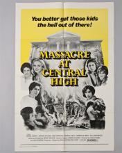 """Massacre at Central High"" 1 sheet poster"