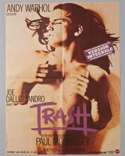 """Andy Warhol """"TRASH"""" 1 sheet poster in French"""