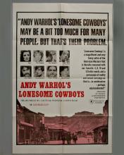 """Andy Warhol's """"Lonesome Cowboys"""" 1 sheet poster"""