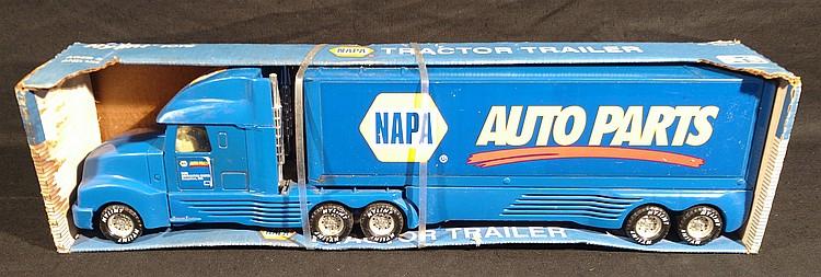 Napa Tractor Parts : Nylint napa auto parts promo tractor trailer toy truck