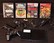 Sony Playstation 2 Console with 4 Games.