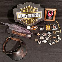 Harley Davidson. Grouping of over 20 pieces. Lots of new old store stock.