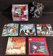 STAR WARS LOT. Toys, Vintage Book & Record sets,etc.