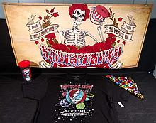 GRATEFUL DEAD. RARE 50th Anniversary 2 sided poster, travel cup,New Concert Shirt,etc.