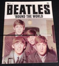 The Beatles.  1964 'ROUND THE WORLD ISSUE # 1 RARE VINTAGE LARGE SIZE MAGAZINE