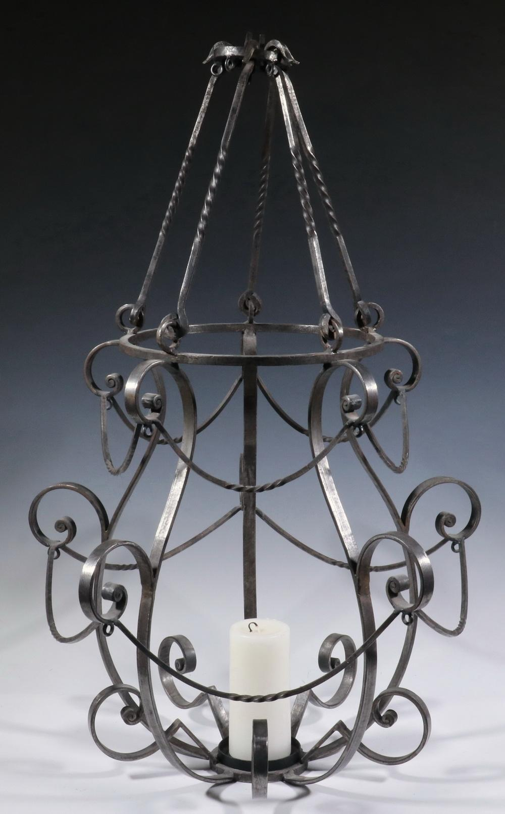 Sold Price Wrought Iron Candle Chandelier April 4 0120 10 00 Am Edt