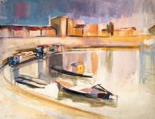 Aba-Novák Vilmos (1894-1941): Fishing Boats, 1932
