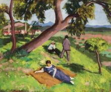 Basch Andor: Summer at Nagybánya (Baia Mare), 1912