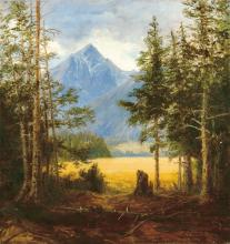 Telepy Károly (1828-1906): View of the Tatras (Koscielec)