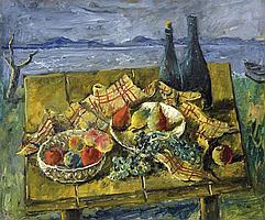 Basch Andor (1885-1944) - Lakeside Still-life, 1932