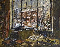 Basch Andor (1885-1944) - Atelier Window, 1940