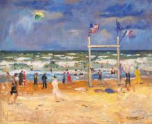 Basch Andor (1885-1944): Seaside, 1925