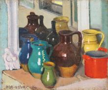 Aba-Novák Vilmos (1894-1941): Still-life, 1914