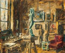 Basch Andor (1885-1944): Atelier, 1941