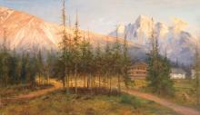 Telepy Károly (1828-1906): Alpine Landscape, 1899