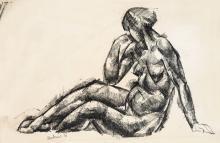Aba-Novák Vilmos (1894-1941): Female Nude, 1921