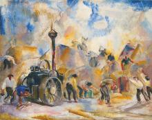 Aba-Novák Vilmos (1894-1941): August mood (Threshing), 1928