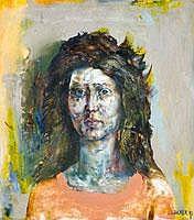 Lakner Laszlo (1936- ) Noi fej, 1962