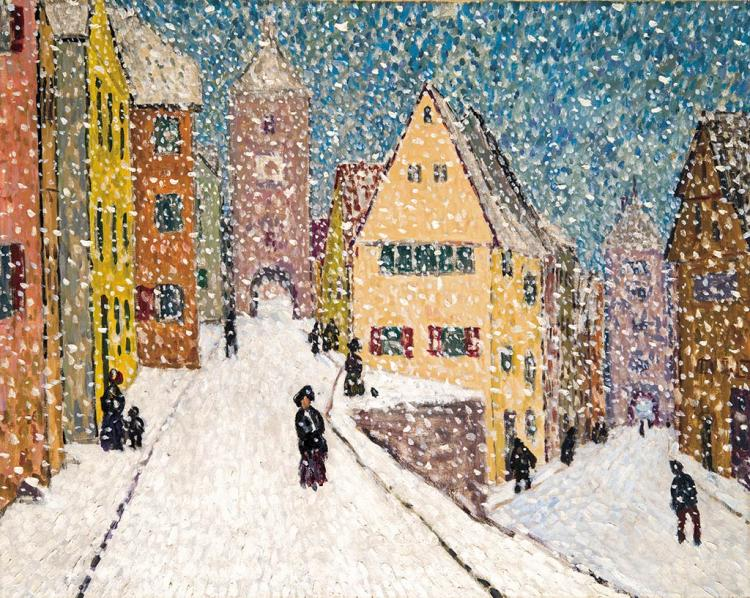 Winter (Rothenburg in Winter), 1911