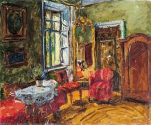 Basch Andor (1885-1944): Room interior, 1938