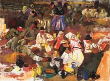 Aba-Novák Vilmos (1894-1941): Resting harvesters, 1934