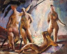 Aba-Novák Vilmos (1894-1941): Nudes outdoors