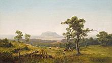 Telepy Károly (1828-1906), Saint George -mountain, Oil on ca