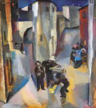 Aba-Novák Vilmos (1894-1941): Street Musicians, 1929