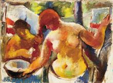 Aba-Novák Vilmos (1894-1941): Combing her Hair, 1925