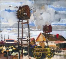 Aba-Novák Vilmos (1894-1941): Dovecot (Fair at Dawn), 1934