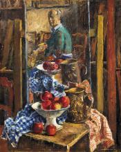 Basch Andor (1885-1944): Painter in the Studio, 1943