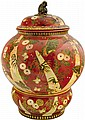 Zsolnay Pot with butterfly cover from the Millennium-series, Zsolnay, around 1896