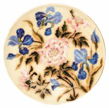 Zsolnay: Wall-plate with Iris and Peony decor