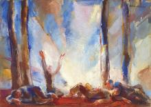 Aba-Novák Vilmos (1894-1941): Dawn of the Woodcutters, c. 1926