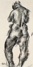 Aba-Novák Vilmos (1894-1941): Back nude, 1922